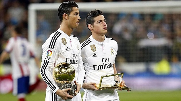 Cristiano y James Real Madrid
