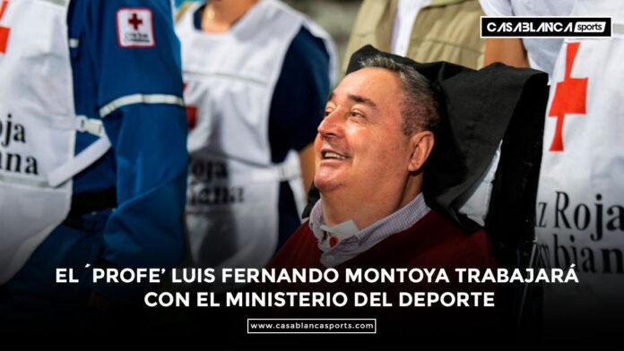 El ´profe' Luis Fernando Montoya trabajará con el Ministerio del Deporte