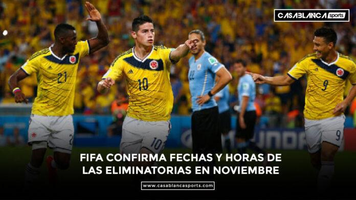 FIFA confirma fechas y horas de las Eliminatorias en noviembre