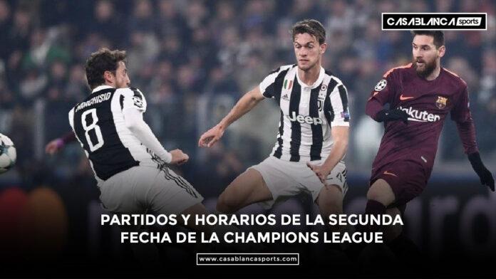 Partidos y horarios de la segunda fecha de la Champions League