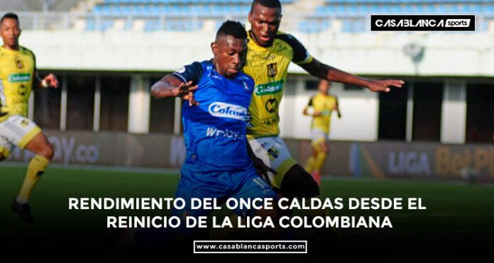 Rendimiento del Once Caldas desde el reinicio de la Liga colombiana